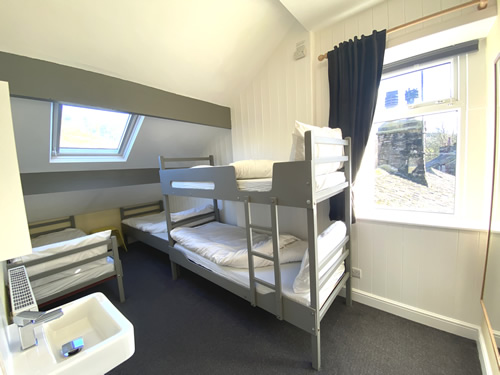 4 bed room at the hostel