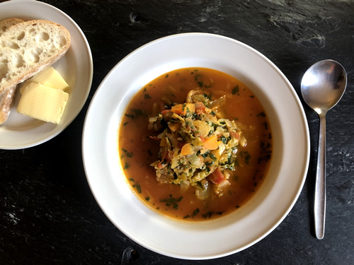 food minestrone soup