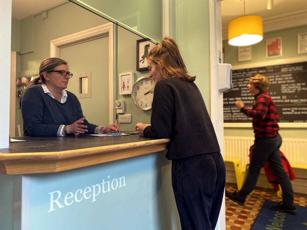 booking at reception